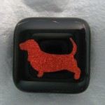 Bassett Hound Pin (Burnt Orange)