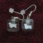 Clumber Earrings (Silver / Transparent)