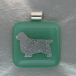 Clumber Pendant (Silver / Light Green)