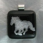Galloping Horse Pendant (Silver)