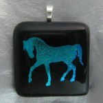 Horse Pendant (Blue)