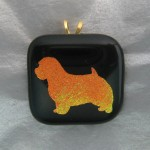 Norfolk Terrier Pendant / Pin (Orange Gold / Black)